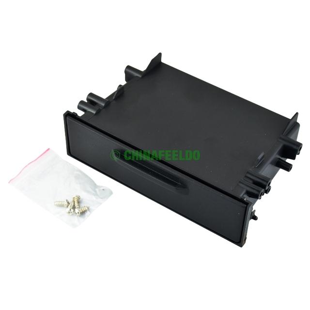 1DIN Fascia instalação guarnição painel de montagem de carro de caixa de armazenamento com tampa para Toyota J-1497