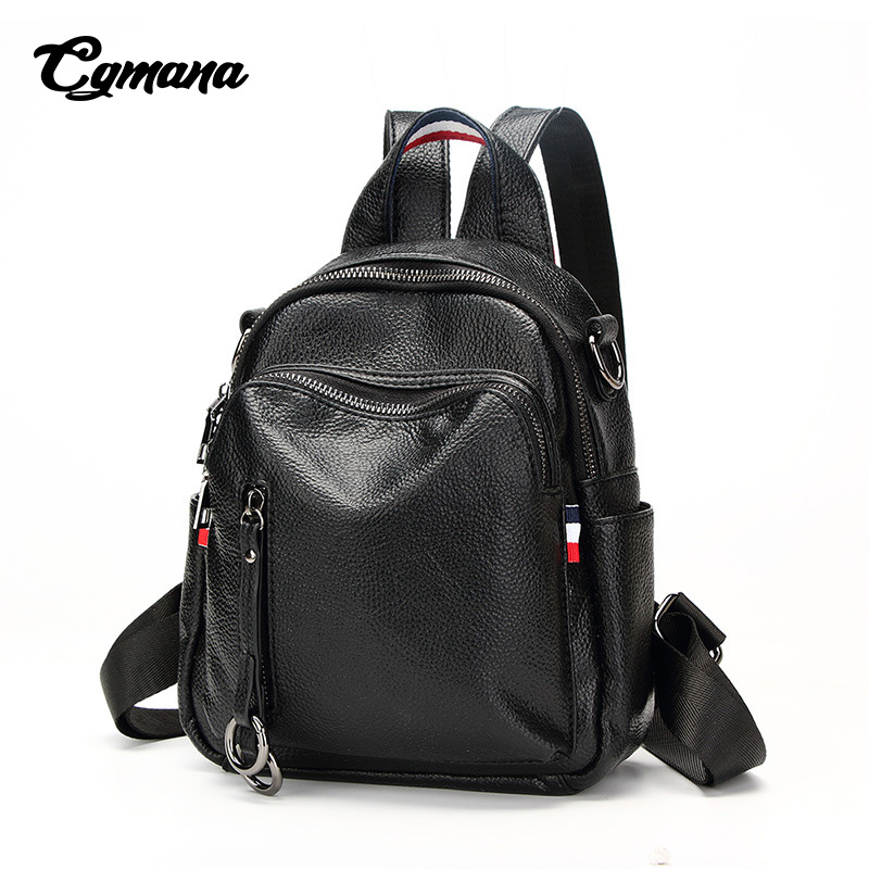Women Soft Leather Backpacks 2018 New High Quality Female Fashion Travel Dual-Use School Bags