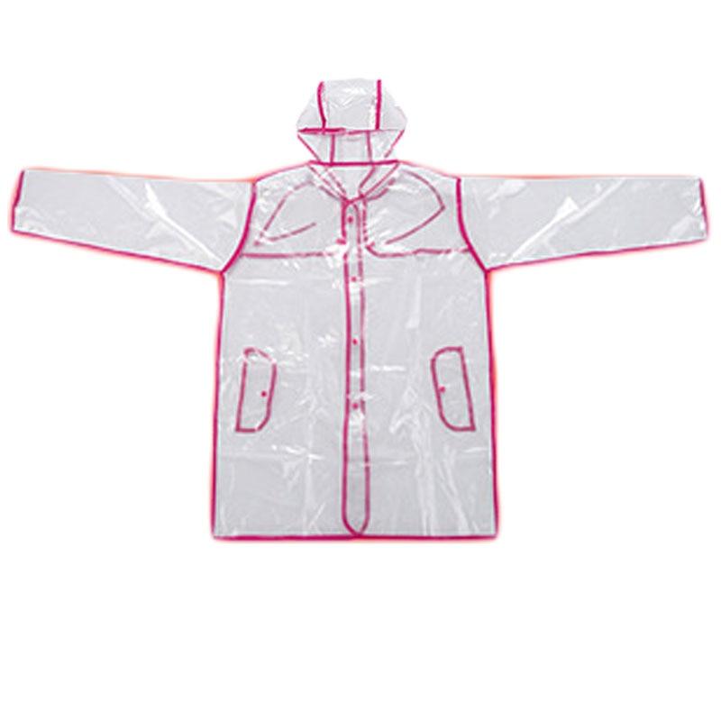 Clear Vinyl See Through Raincoat Women Transparent Rain Coat PVC Jacket