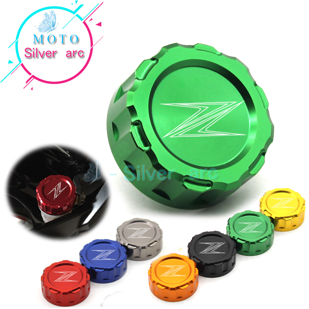 Motorcycle CNC Aluminum Rear Brake Fluid Reservoir Cover Cap For Kawasaki Z250 Z650 Z750 Z800 Z900 Z1000/sx EX250/300 ZX-6R/10R for kawasaki z650 z900 2016 2017 z800 2013 2016 versys 650 2010 2017 motorcycle accessories cnc front brake reservoir cover