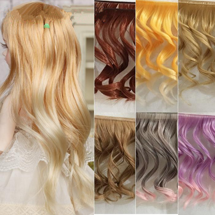 2Pcs/lot Beautiful Big Wavy Wigs SD BJD Dolls Fluffy Handmade Curly Wig Hair Synthetic Fiber High-temperature Wire Doll DIY Wig