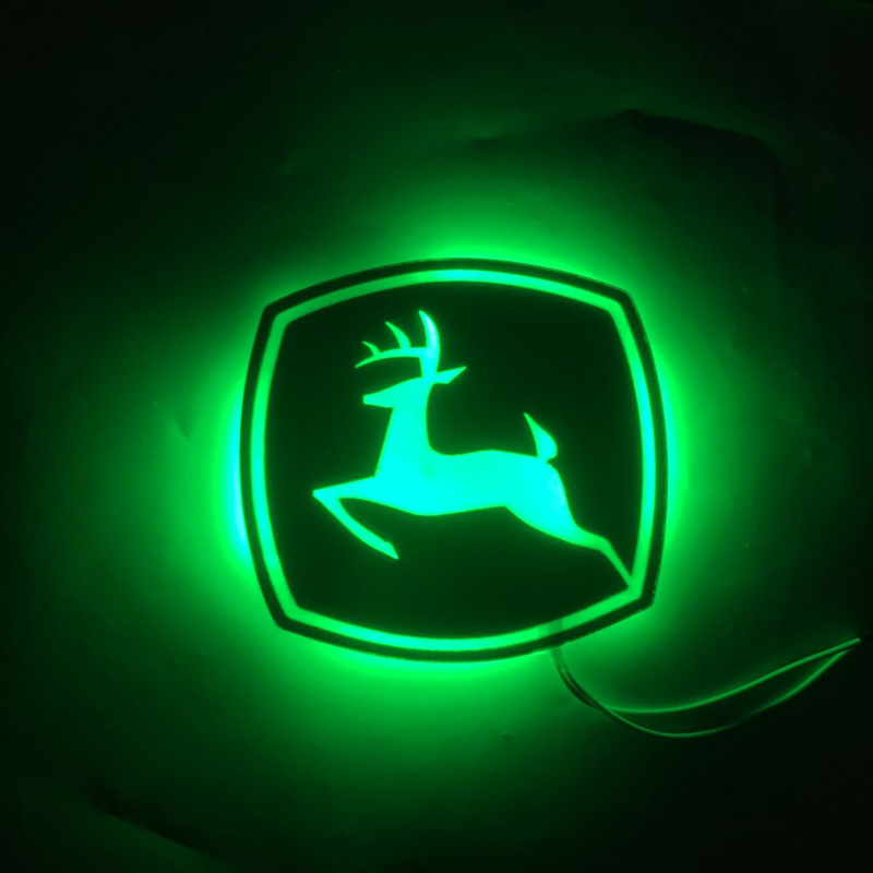 Deer 8.5X8CM LED Lighting JOHN DEERE / Vehicle / Home / Billboard Decorative Board Customization Static Lighting