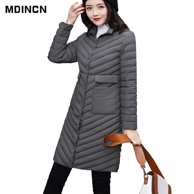 014872fb8 US $36.99  Large Size Thin Women Quilted Parkas Long Women Cotton Padded  Jacket Spring Windproof Womens Spring Jackets Coats Size 5XL LR4-in Parkas  ...
