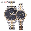 LONGBO Brand Luxury Waterproof Quartz Men Watches Women Gold Stainless Steel Lovers Couple Wrist Watch Relogio Masculino LM80082