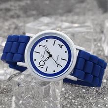 Мода Женева Для женщин Для детей аналоговые кварцевые желе силиконовые наручные часы подарок