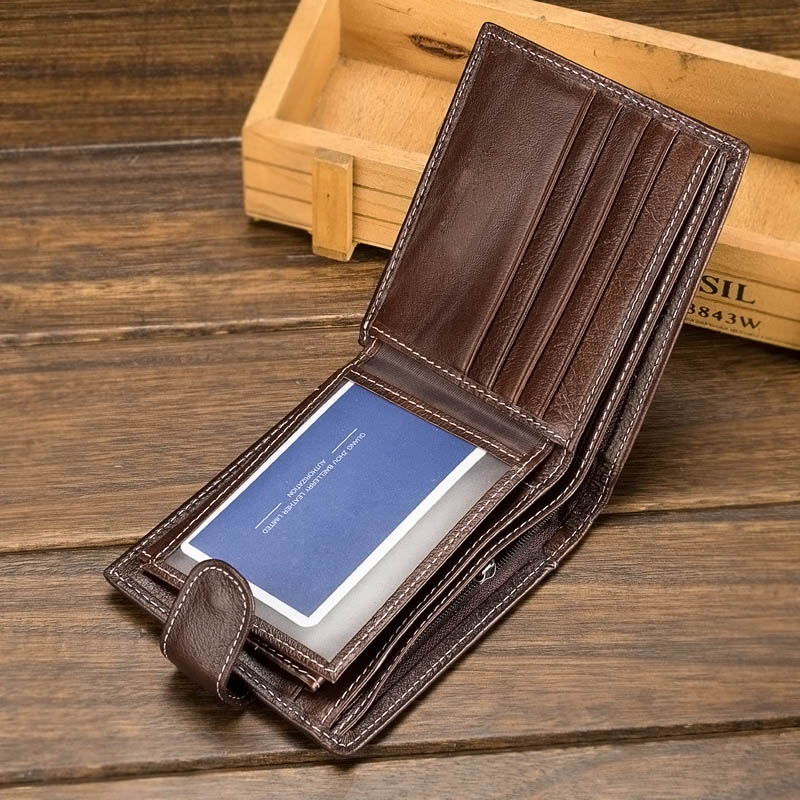 Genuine Leather Wallet Men Clip Cowhide Wallet Small Clutches Purse Coin Pouch Short Wallets Popular gubintu genuine cowhide leather money clip wallet men slip metal short wallets men slim clutch men wallet small purse for man