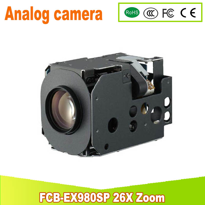 yunsye Free shipping Sony FCB-EX980SP Color CCD Camera Analog camera 26X ZOOM yunsye free shipping sony fcb ex1010p 36x zoom sony camera module 36x zoom camera high resolution mini camera small ptz