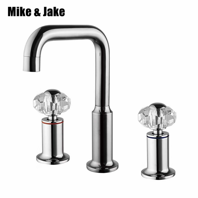 bathroom faucet double handl chrome basin mixer crystal handle tap Bathroom tap Bathroom Basin Mixer Tap with Hot and Cold Waterbathroom faucet double handl chrome basin mixer crystal handle tap Bathroom tap Bathroom Basin Mixer Tap with Hot and Cold Water