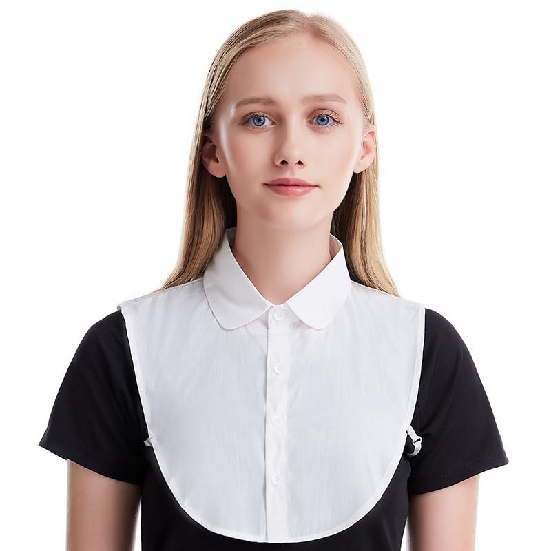 Women Muslim Fake Collar Detachable  Lapel Choker Necklace Shirt Fake False Collar Lapel Blouse Top Women Clothes Accessories
