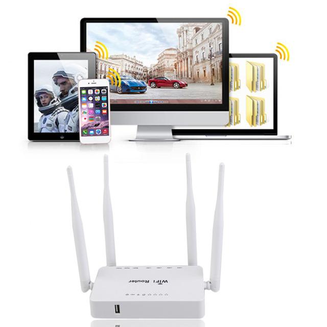 ZBT-WE1626 Wi-fi Router com 4 Antenas Melhorar Sinal Wifi para Uso em Escritório