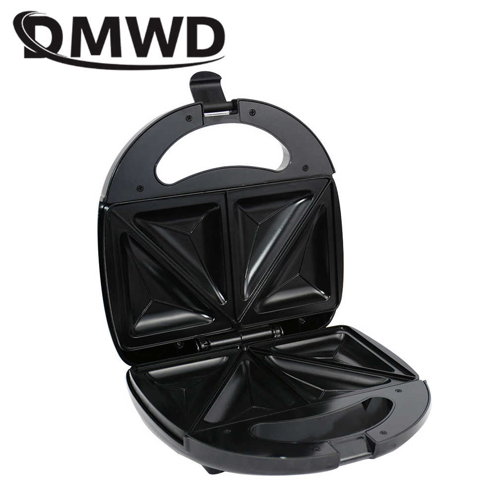 6b34a5a73 ... DMWD Electric Sandwich Maker Household Mini Grill Bread Waffle Pancakes  baking Machine Non-stick Iron ...