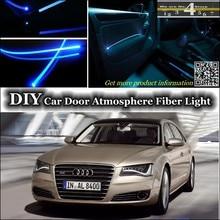 Для Audi A8 S8 RS8 интерьер окружающего света настройки атмосферу Волокно оптическое Ленточные огни двери Панель освещения (не EL свет) установите