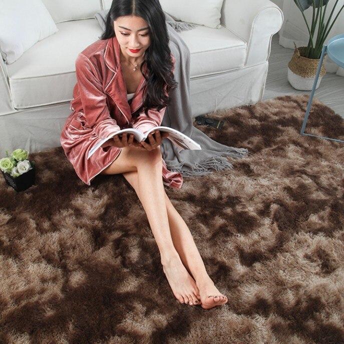 Luxe en peluche fourrure tapis salon doux Shaggy tapis enfants chambre cheveux chambre tapis canapé Table basse tapis de sol moderne grands tapis