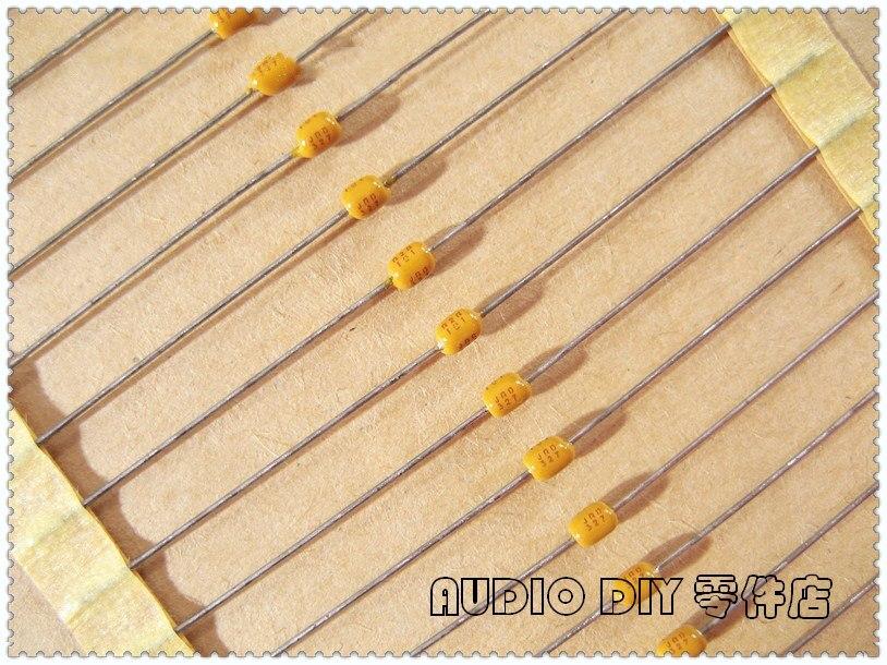 50 condensateurs céramiques axial 47nF 100V X7R AVX