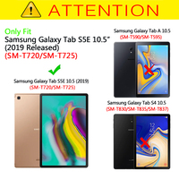 """galaxy tab Slim Case for Samsung Galaxy Tab S5E 10.5 SM-T720/T725 Tablet Folding Stand Cover for Samsung Galaxy Tab S5E 10.5"""" 2019 Released (3)"""