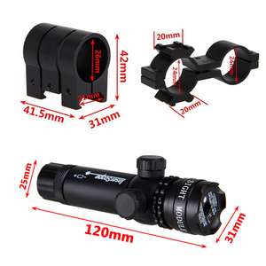 Image 5 - Taktische Jagd Laser Montieren Grün Dot Laser Anblick Gewehr Pistole Umfang 20mm Airsoftsport Schiene & Barrel Druck Schalter Montieren