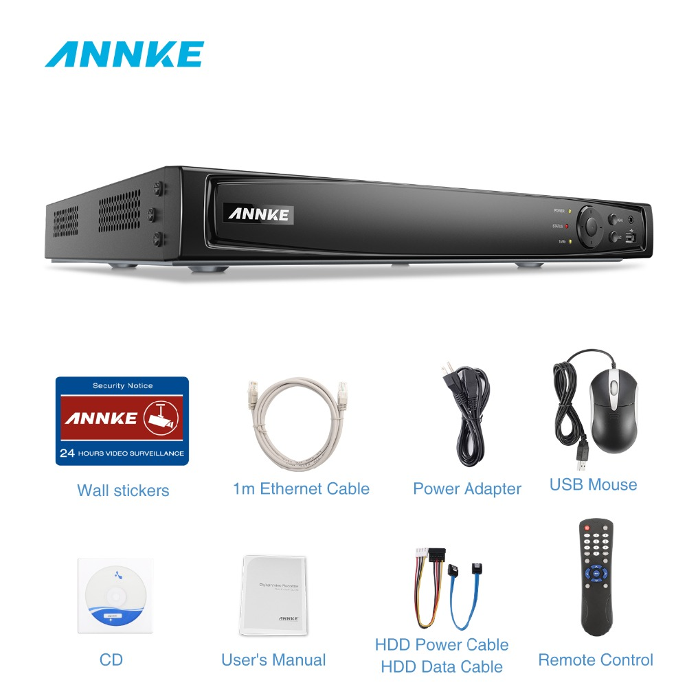 ANNKE 16CH 8MP POE NVR 4K Network Video Recorder NVR For POE IP Camera  P2P Cloud Function Plug And Play