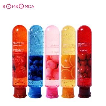 Lubrifiant sexuel lubrifiant myrtille Orange cerise pêche fraise crème Sexo lubrifiant pour le corps huile de Massage pour le sexe Anal graisse orale
