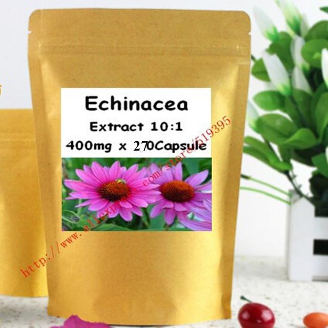 1 Paquete de Echinacea Extracto de la Cápsula de 400 mg x 270 unids apoyar la Función Inmune Saludable y el bienestar general del envío libre