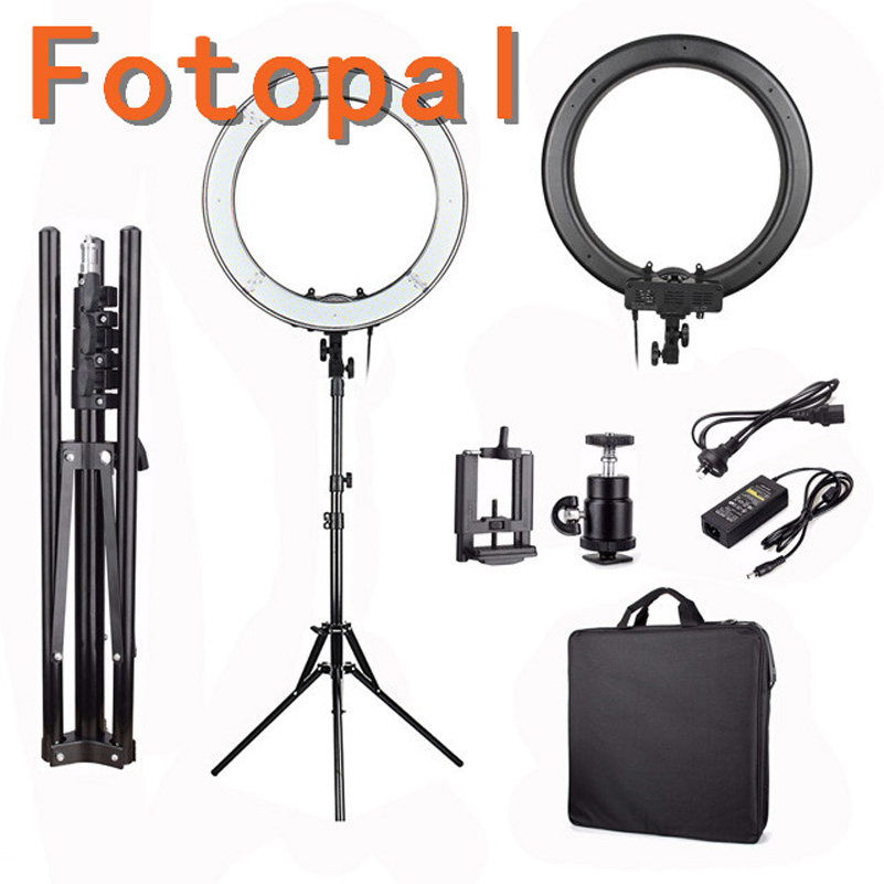 Fotopal 13 Inch 5500k LED SMD Photo Studio Video lighting LED Ring Light Photography Dimmable Ring Lamp With Stand for Makeup fotopal led ring light for camera photo studio phone video 1255w 5500k photography dimmable ring lamp with plastic tripod stand
