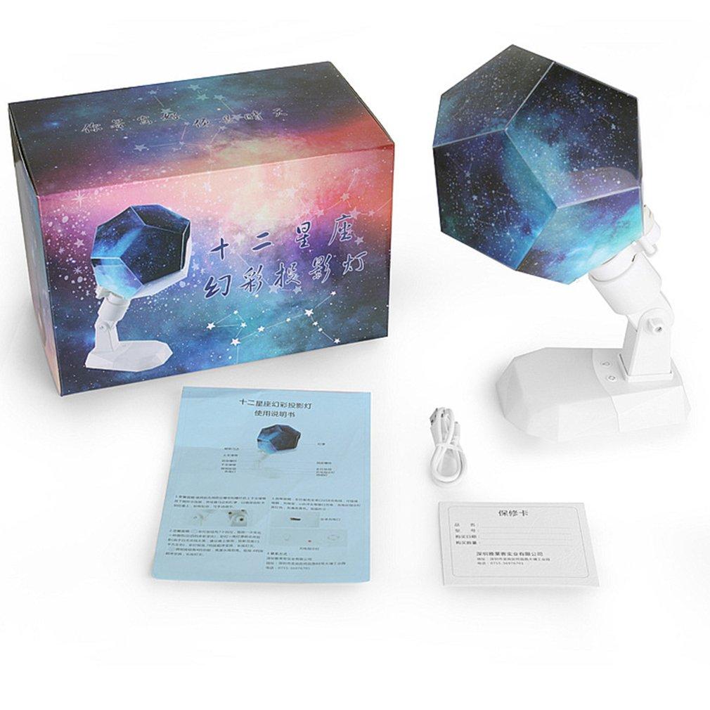 Fantastic DIY Season Star Projector Light Astro Star Lamp Twelve Constellations Pattern Display With Power Supply