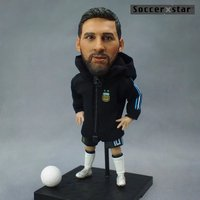 1Pcs Football Soccer Star Figures 2018 Argentina Team Lionel Messi 12cm&5in Height Action Dolls Figurine