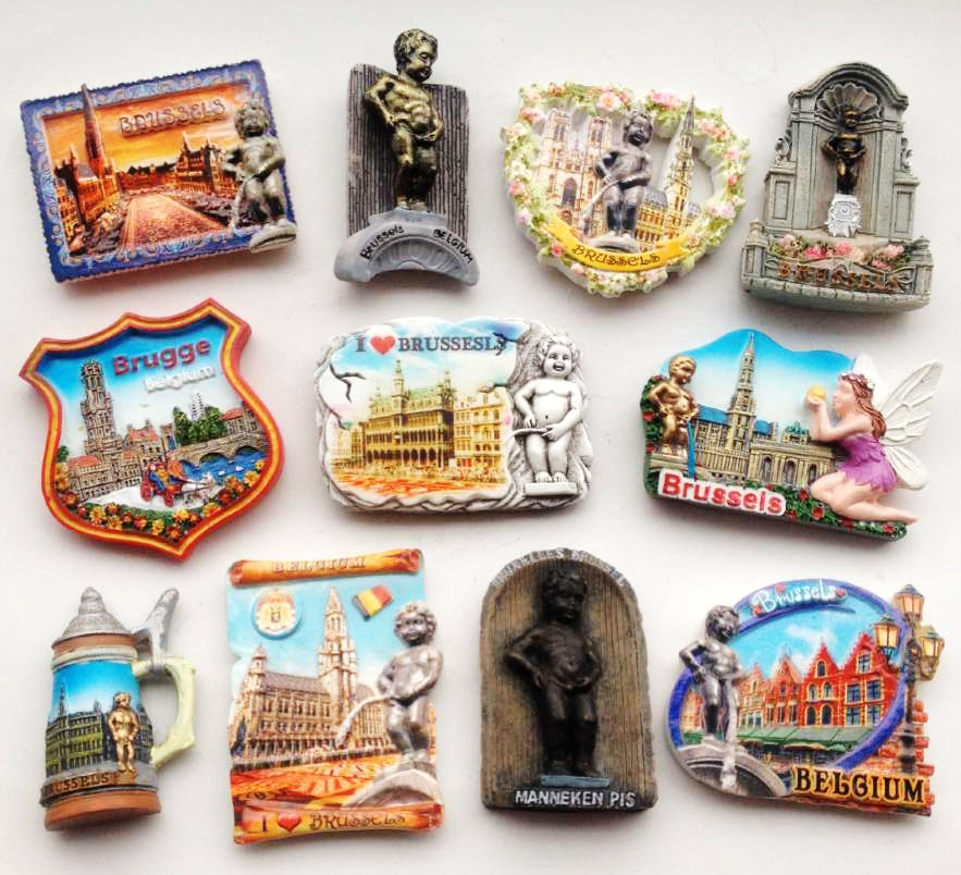 Hot sale Brussels Belgium Grand Place Manneken-Pis Statue 3D Fridge Magnet Travel Souvenir Refrigerator Magnetic Stickers image