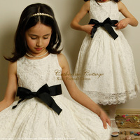 Flower Girl Dresses For Weddings Pageant White First Holy Lace Communion Dress Little Toddler Junior Child