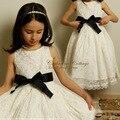 Vestidos menina para casamentos pageant branco primeiro santo lace comunhão vestido criança pequena criança júnior da dama de honra