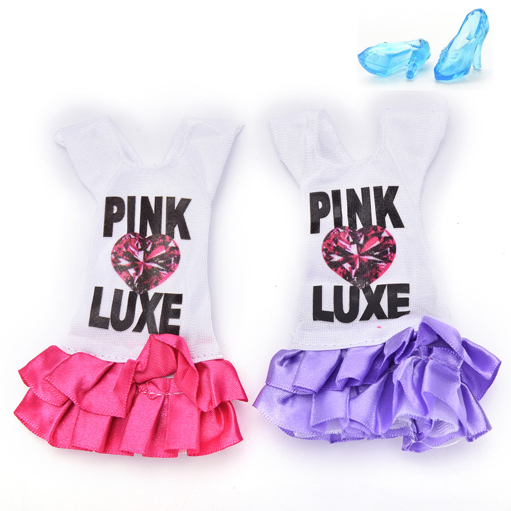 New Fashion Handmade Dresses Clothes For Barbie Doll Girls Gift Accessories Dolls Clothes Outfits Random Color 1PCS