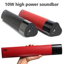 10วัตต์บลูทูธลำโพงขับเคลื่อนพลังงานสูงวูฟเฟอร์สเตอริโอSound Bar TF USBวิทยุFMพกพาสำหรับพีซีMP3โทรศัพท์สามารถใช้3.5มิลลิเมตรไมค์