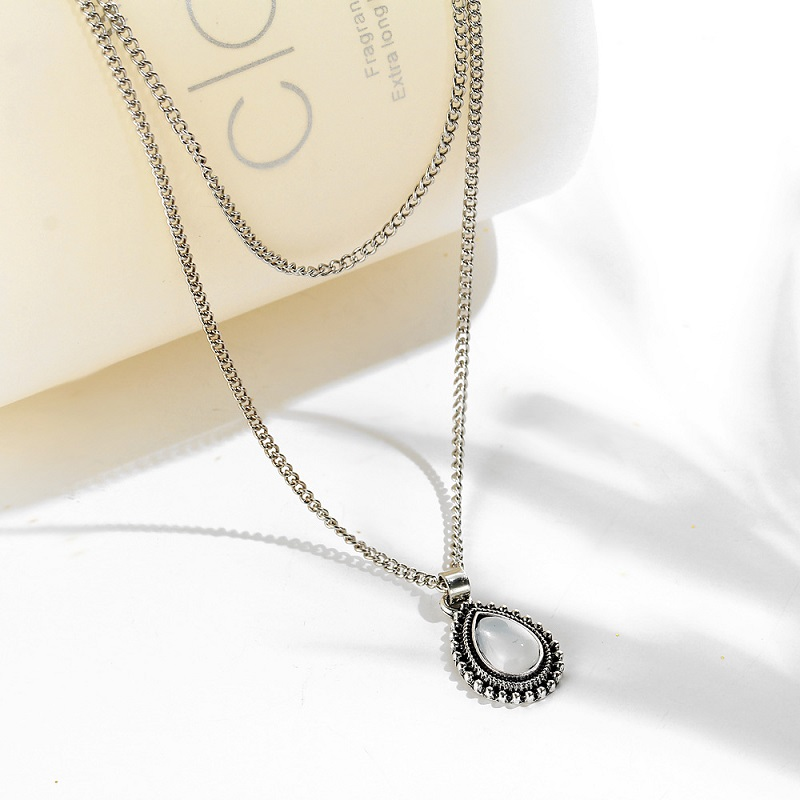 Crescent Water Drop Necklace 6