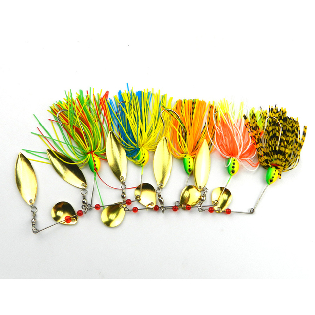 5 Double Willow Blade Spinnerbaits