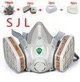 Nueva actualización SJL 6200 9 Unidades de la marca Suit Respirador Pintura Rociar Cara Máscara De Gas
