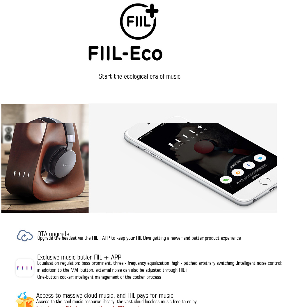 FIIL DIVA Headphones Bluetooth 4.1 HiFi Active Noise Cancelling Headset High Quality New Earphone for Music Lover Headphones (11)