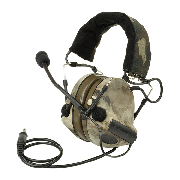 Tactical Black ATacs Color  zComtac II Headset  Paintball Accessory For Outdoor Hunting Sports CL42-0024