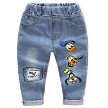 Marke Kids Cartoon Hose Mode Mädchen Jeans Kinder Jungen Loch Jeans Kids Fashion Denim Hosen Baby Jean Säuglings-kleidung(China)