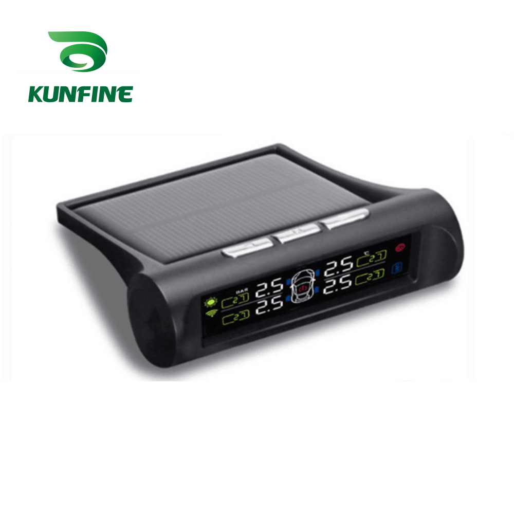 Smart Auto TPMS Tire Pressure Monitoring System Solar Energie TPMS Digital LCD Display Auto Sicherheit Alarm Systeme Interne Sensor