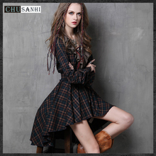 Vintage women autumn Cotton dress long sleeve sexy gothic great gatsby dress bodycon party short sex runway club Dresses brazil