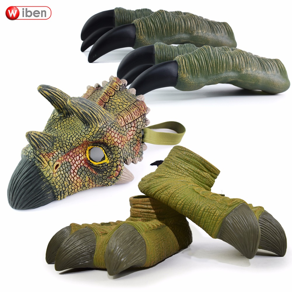 Wiben Animal Hand Puppet Action & Toy Figures Dinosaur Children Toys Quality PVC Classic Toys Kids Model Gift wiben jurassic carcharodontosaurus toy dinosaur action