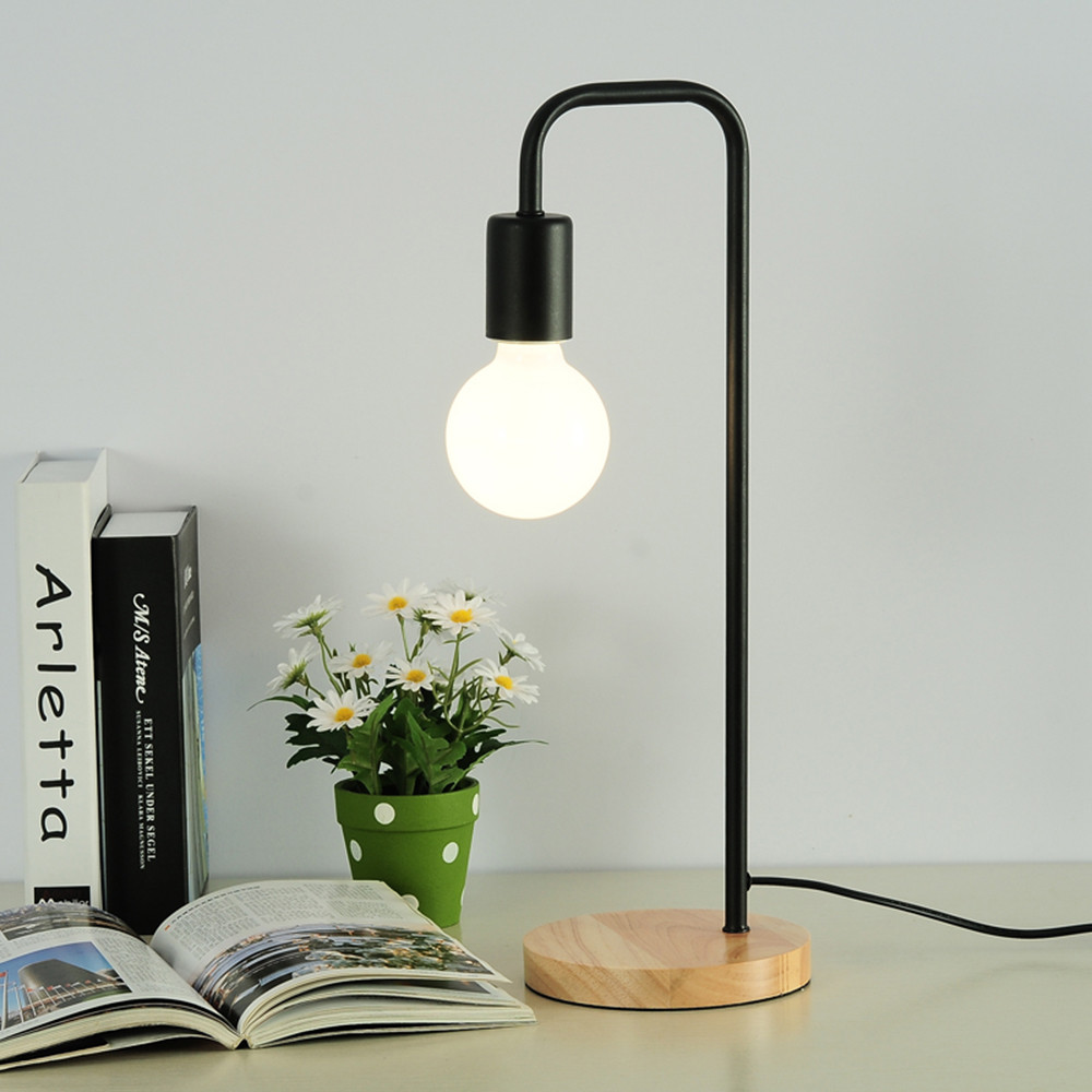 Study Table Light Modern Wooden Table Lamp White Black Office Desk Light Bedroom Bedside Lamp Fashion Warm Study Small Table Light Al184 In Desk Lamps From Lights