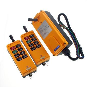 12V-415V 8 Channels 1 Speed 2 Transmitters Hoist Crane Radio Remote Controller System CE IP65 Fuse 5A