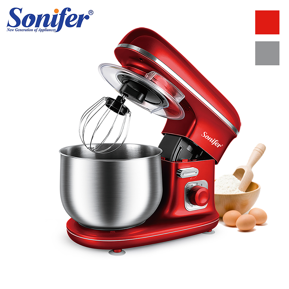 1100W High Power Food Mixers Large size Stainless Steel Whisk Household Cream Mixer Kneading Machine Food