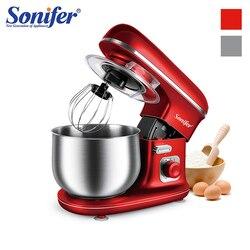 5L Food Stand Mischer 6-Speed Haushalt Küche Creme Ei Schneebesen Mixer Kuchen Teig Brot Planeten Mixer Küchenmaschine sonifer