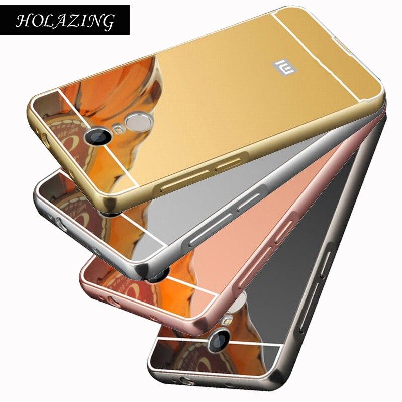 HOLAZING 2 в 1 съемная металлический Алюминий бампер для Xiaomi Redmi 5 плюс 5,99 с зеркалом сзади твердый переплет