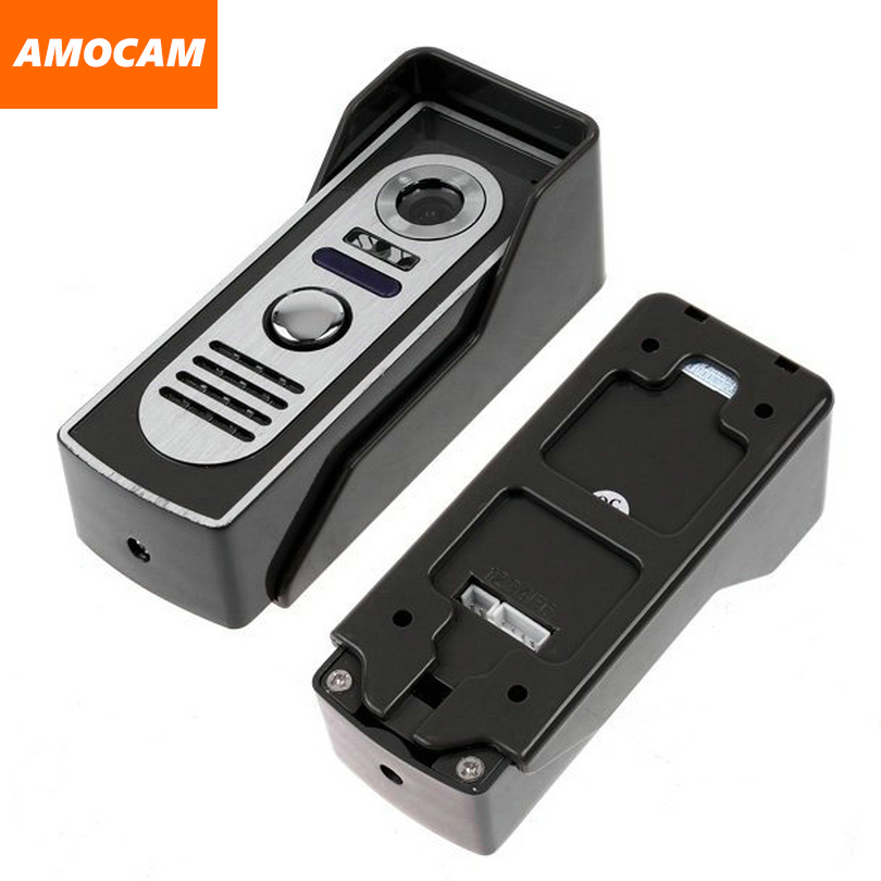 Video Door Phone Intercom Doorbell Camera Aluminium alloy night vision waterproof Camera Support 4 wire monitor ...