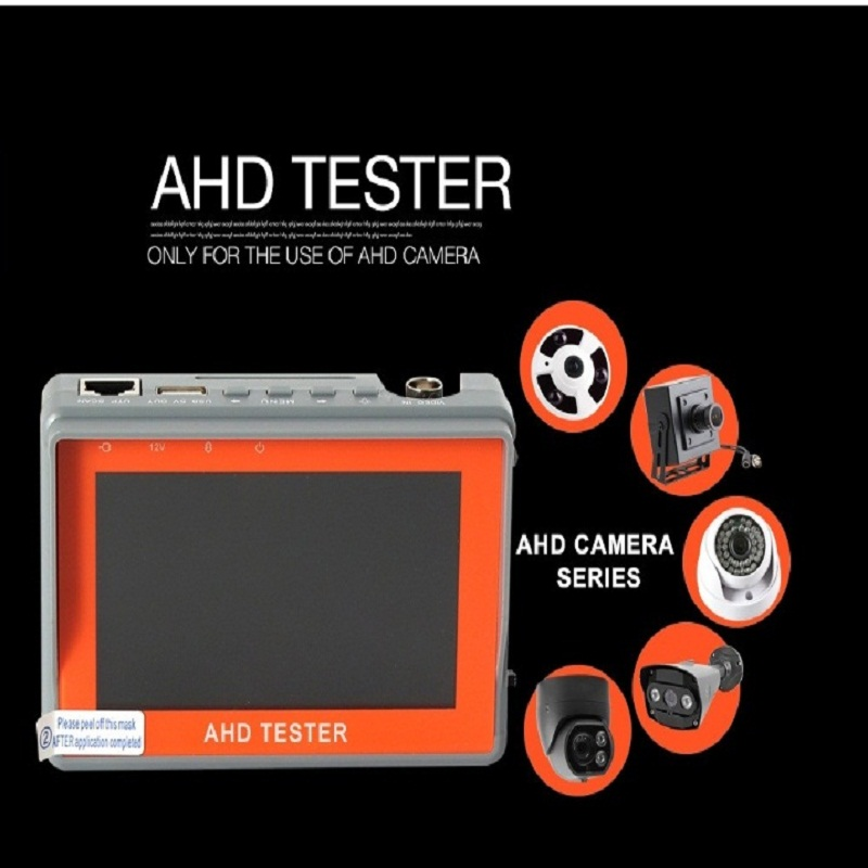 4.3 Inch HD AHD Camera Tester CCTV Tester Monitor AHD 1080P 720P AHD Analog Camera Testing UTP Cable Test 5V/2A, 12V/1A Output pro skit taiwan bao mt 7062 hdmi cable measuring tester test