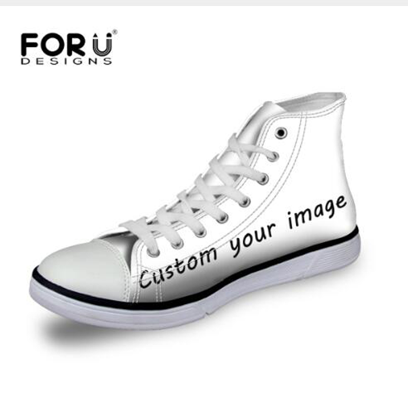 FORUDESIGNS Custom Canvas Shoes,Fashion High Top Ladies Casual Shoes,Woman Platform Shoes,Teenager Girls Shoes chaussure femme