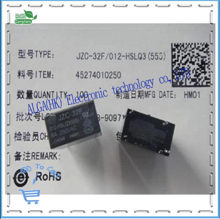 Relays HF32F - 012 - HSLQ JZC - 32-012 - F HSLQ3 8 A High Sensitive Loads