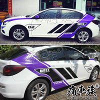for Chevrolet Cruze car stickers pull flower color paste Cruze appearance decoration modified car stickers